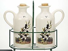 French Inspired Ceramic Olive Design Oil and