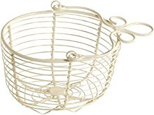 French Kitchen Collection Hanging Basket Ivory,