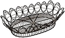French Kitchen Collection Oval Basket Black