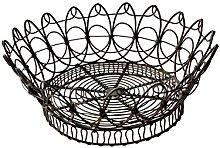 French Kitchen Collection Round Basket Dark
