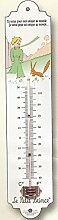 FRENCH METAL DECORATIVE SILKSCREENED THERMOMETER