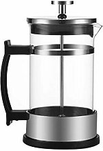 French Straight Coffee Pot,Stainless Steel Glass