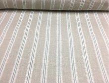 French Vintage Linen Stripe Duckegg Blue