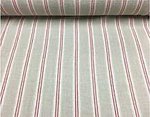 French Vintage Linen Stripe Red Curtain/craft &