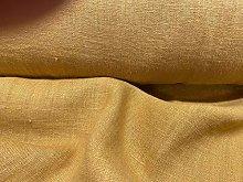 French Vintage Stonewashed Linen Ochre Gold 150cm