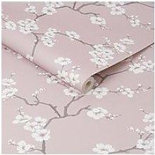 Fresco Apple Blossom Wallpaper - Pink