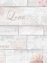 Fresco Decorative Plank Wallpaper
