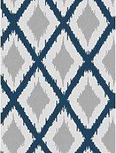 Fresco Ikat Blue Wallpaper