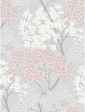 Fresco Lykke Tree Pink Wallpaper