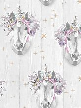Fresco Unicorn Wallpaper, Multi