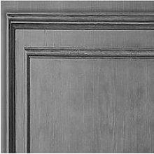 Fresco Wood Panel Grey Wallpaper