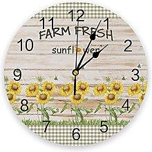 Fresh Farm Silent Non Ticking Wall Clock, Battery