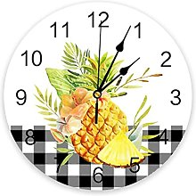 Fresh Fruit Pineapple Lattice Wall Clock Bedroom
