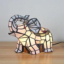 Fresh Pastoral White Elephant Table Lamp