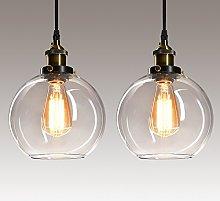 Frideko 2 Pack Pendant Lighting Ceiling - Glass