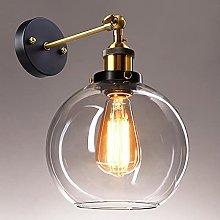 Frideko Vintage Glass Wall Light - Industrial