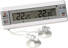 Fridge and Freezer alarm thermometer with dual