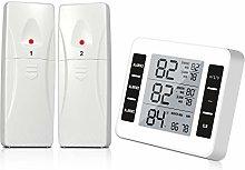 Fridge Thermometer, Feiboo LCD Digital