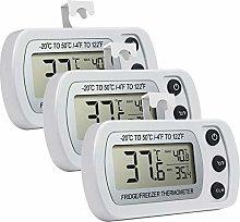 Fridge Thermometers,INRIGOROUS Waterproof LCD