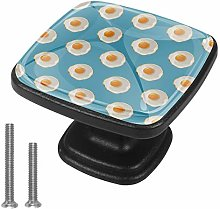 Fried Egg Drawer Pulls Handle Cupboard Cabinet