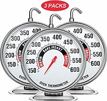 Frienda 3 Pieces Large Dial Oven Thermometer Grill