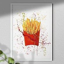Fries - Wall Art Print | Food Art Print | Paint