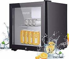Frifer Mini Fridge Black, 43 liters Glass Door