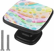 Fringe 4pcs Colorful Crystal Glass Cupboard