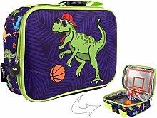 FRINGOO Boys Lunch Bag Basketball Thermal
