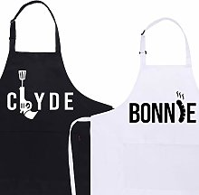 FRIUSATE Funny Aprons for Couples The Chef Aprons
