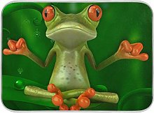 Frog 3D Green Forest Spider Dish Drying Mat Large