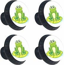 Frog 4PCS Round Drawer Knob Pull Handle Cupboard