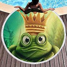 Frog Printed Round Beach Towel Yoga Picnic Mat
