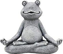 Frog Statue Garden Meditating Frog Ornament Zen