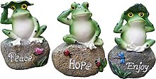 Frog Statue Pond Ornament Garden Frog Art Craft