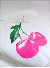 Frohstoff - Tea Towel Cherry Pink - linen   Pink  