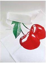 Frohstoff - Tea Towel Cherry Red - linen | red |