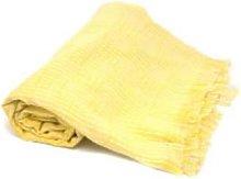 From Afar - Yellow Grid Tanzanian Kikoy Cloth -