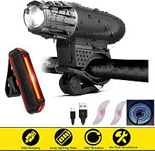 Front and Rear Bike Lights, Rechargeable