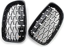 Front Black Grille Chrome Diamond Meteor Grill