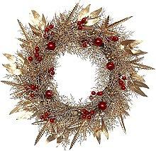 Front Door Christmas Wreath 50 Cm Golden Willow