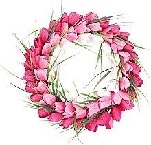 Front Door Floral Wreath, Vintage Handmade Twigs