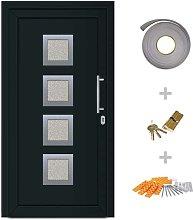 Front Entrance Door Anthracite 108x200 cm - Hommoo
