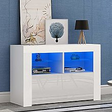 Front RGB LED TV Stand Cabinet Unit Modern 100cm