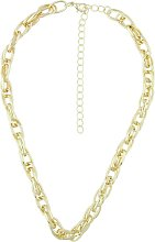 Front Row Gold Colour Chain Necklace