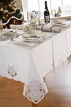 Frost White Christmas Round Circular Tablecloth