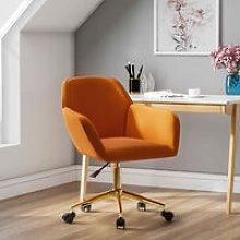 Frosted Adjustable Swivel Velvet Office Chair,