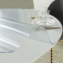 Frosted Tablecloth Protector Round Plastic Table