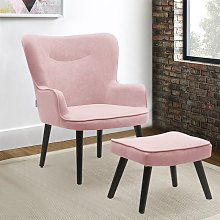 Frosted Velvet Smiley Lounge Armchair and