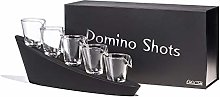 Froster Domino Shots Deluxe, Five Shot Glasses in
